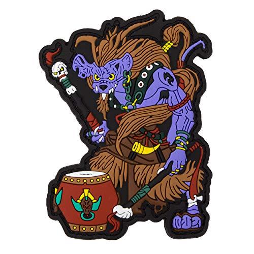 Chinese Zodiac Sign PVC Rubber Patch - Monkey Tierkreiszeichen Klett-AUFNÄHER