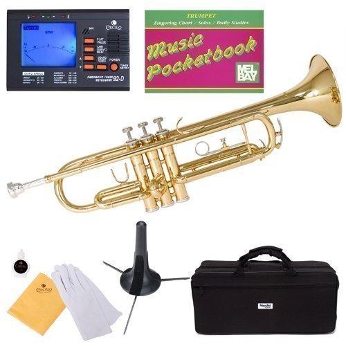 Mendini MTT-L Gold Lacquer Brass Bb Trumpet +...