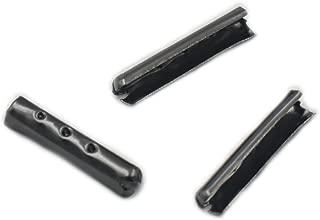 100 Pcs Shoelace 3mm Bullet Metal ends Aglet Tip replacement for Shoe Lace Black