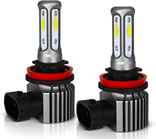 MAXGTRS H8 100W 3570 CSP-Chips 6000K Xenon White Three-Sided Beam LED Fog Light H9/H11/H16JP Error Free CANBUS Extremely Bright LED Fog Lamp