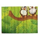 HASENCIV 500 Piezas Rompecabezas Rompecabezas Búho Pájaros Rama Amor Amigos Animal Lindo Dibujos Animados Adorable Bosque Familia Educativo Intelectual Descompresión Diversión para Adultos Jovenes y