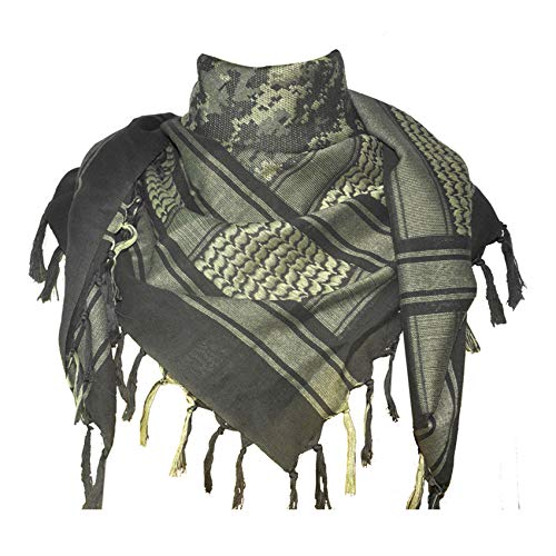 Explore Land Cotton Shemagh Tactical Desert Scarf Wrap (Camouflage)