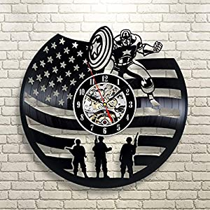 MAKE A UNIQUE PRESENT - Wanna make a unique and original gift - impress everybody with handmade vinyl record clock! AMAZING COMBINATION OF MODERN ART AND VINTAGE STYLE – Vinyl Record Wall Clock is a perfect home decoration and will suit any design an...