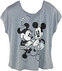 Camiseta de Mickey y Minnie Mouse tamaño grande para mujer