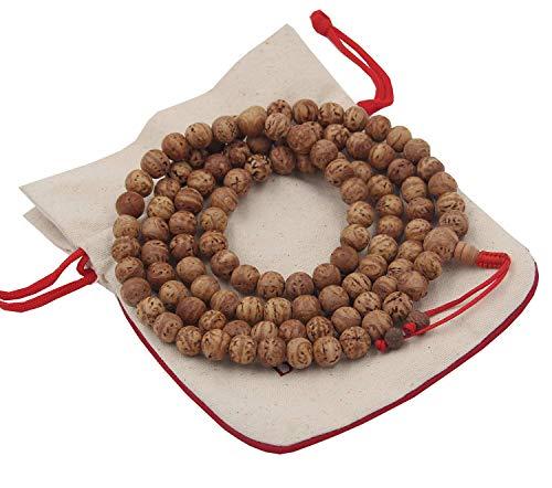 DharmaObjects Tibetan Meditation Genuine Bodhiseed Mala Prayer Rosary 108 Beads
