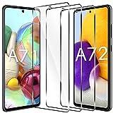 LK Compatible con Samsung Galaxy A71 Protector de Pantalla,3 Pack,9H Dureza Cristal Templado, Equipado con Marco de Posicionamiento,Vidrio Templado Screen Protector