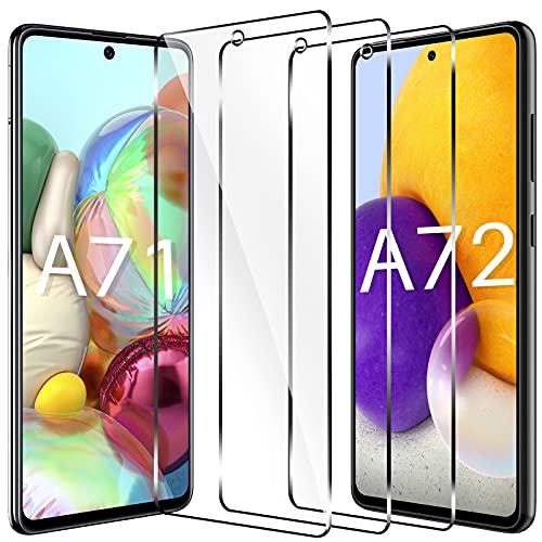 LK Compatible con Samsung Galaxy A71 Galaxy A71 Protector de Pantalla,3 Pack,9H Dureza Cristal Templado, Equipado con Marco de Posicionamiento,Vidrio Templado Screen Protector