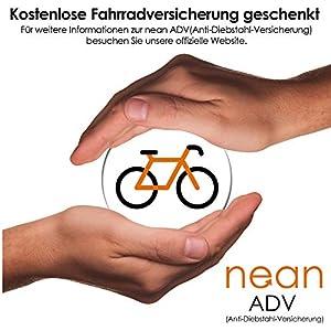 Nean - Candado plegable para bicicleta con soporte y 2 llaves de seguridad (20 x 3,5 x 820 mm), color negro