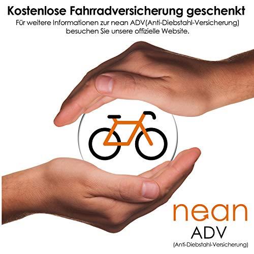 nean Fahrrad-Ketten-Schloss, Zahlen-Code-Kombination-Schloss, Stahlkettenglieder, Army, 6 mm x 900 mm - 7