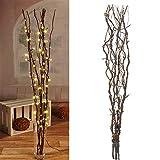 Lichterzweige mit 60 LEDs braun Beleuchtung Lichterkette Leuchtzweig Dekoration Lichter Zweig