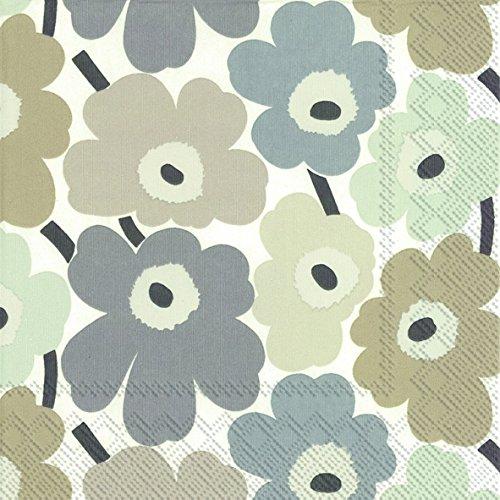IHR Marimekko - Tovaglioli di carta tradizionale, in elegante carta telata, design finlandese Mini-Unikot di Marimekko, confezione da 20