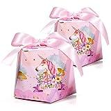 30 x Cajas de Caramelo Unicornio con Cintas, MOOKLIN Forma de Diamante Cajas de...