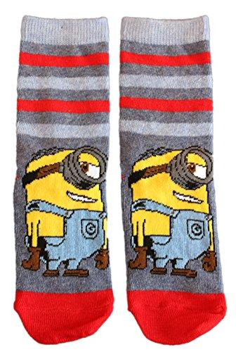 Unbekannt Kinder Socken Minions Jungen, Farben alle:jeans, Größe:27/30