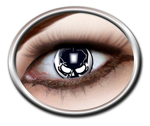 Das Kostümland Kontaktlinsen Totenkopf Schädel 1 PAAR Halloween Karneval