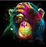 Rompecabezas De Madera 1000 Piezas Para Niños Y Adultos. Colorido Chimpancé Llorando Puzzle Juego Feliz Familia Ocio Entretenimiento Decoración Regalo De Cumpleaños