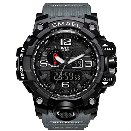 Relógio Masculino G-Shock Militar Smael 1545 - Cinza