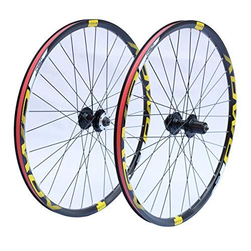 Hs&con MTB Bike Wheelset 26'27.5 Pulgadas 29 ER, 32H Muro Doble Rim Bien Ruedas DE BICICLE DESCK FRACE 8/9/10 Velocidad (Size : 26 Inches)