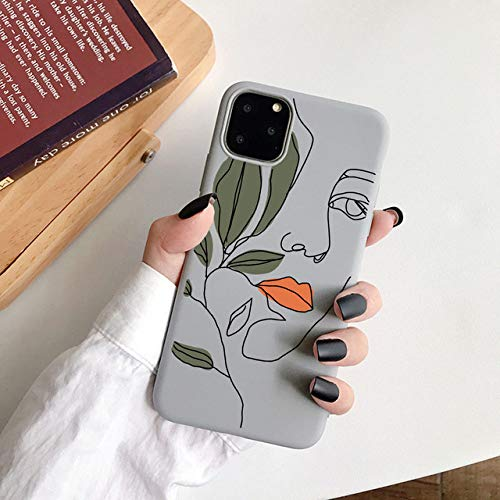 WGOUT para iPhone 11 Pro MAX Funda Mona Lisa Suave TPU Funda de teléfono para iPhone 12 Mini SE 2020 6s 7 8 Plus XR XS, 11, para iPhone 12 Pro