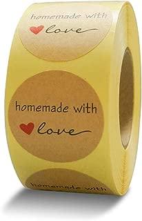 iMlabeller Kraft Homemade with Love Stickers 1.5