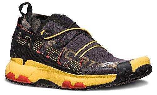 La Sportiva Unika Running Shoe - Men's, Black/Yellow, 43
