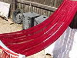 Indoor/outdoor Adult Hammock Swing Bed 72' Long for Adult Under 6 Feet Tall, Red