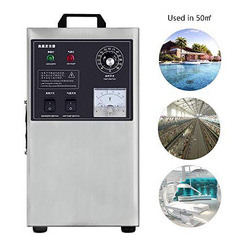Generador de ozono Comercial 3g / H Purificador de Aire Profesional O3 para la máquina de ozono de esterilización con Desodorante de formaldehído para el hogar, la Oficina, los hoteles y la Granja
