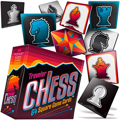 Product Image 1: Pocket Chess Set 64 Flat Game Cards to Take & Play Wherever You Travel!