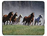 Galloping Horses Mouse Pad Galloping Horses Herd Ranch Animal Rectangle Non-Slip Rubber Mouse pads