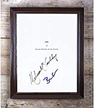 Ben Falcone & Melissa Mccarthy Identity Thief Autographed Reprint Script #97 Special Unique Gifts Ideas for Him Her Best Friends Birthday Christmas Xmas Valentines Anniversary Fathers Mothers Day