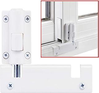 Patio Sliding Door Security Foot Lock Kick Lock, Fits on Top Rail-Childproof Patio Door Guardian-or Bottom Rail-Foot Opera...