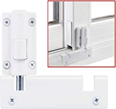 Patio Sliding Door Security Foot Lock Kick Lock, Fits on Top Rail-Childproof Patio Door Guardian-or Bottom Rail-Foot Operated-Keep Your Family Safe and Secure(1 Pack,White)