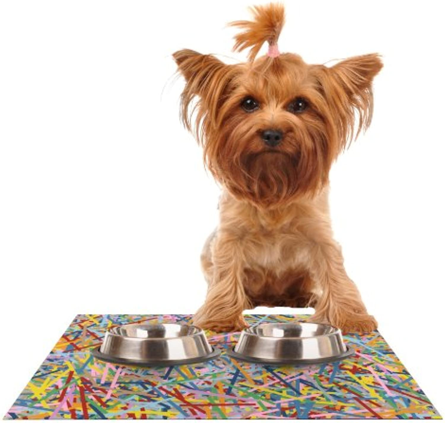 Kess InHouse Project M More Sprinkles  Feeding Mat for Pet Bowl, 24 by 15Inch