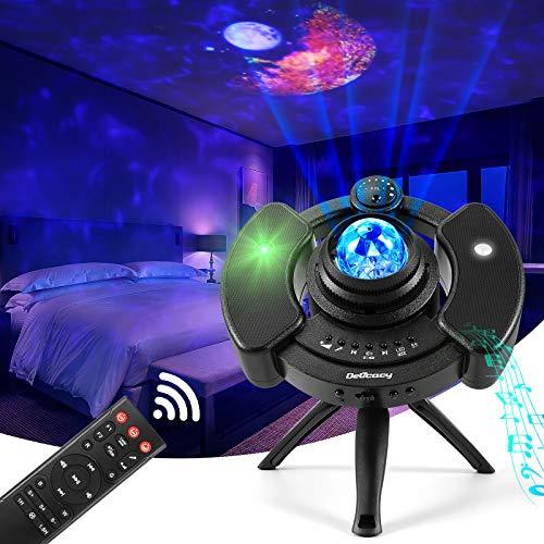 Proiettore Stelle Soffitto Delicacy Proiettore di Lampade Moon Proiettore Stellato Bluetooth, LED 360° Luce Rotante Nebulosa con Timer e Telecomando, per Bambini/Adulti/Regalo/Feste/Decorazioni