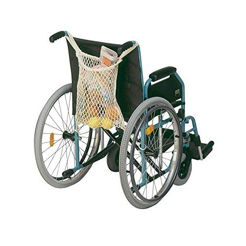 1x Behrend Rollstuhlnetz Einkaufsnetz für Rollstuhl Einkaufstasche Netz Beutel, schwarz