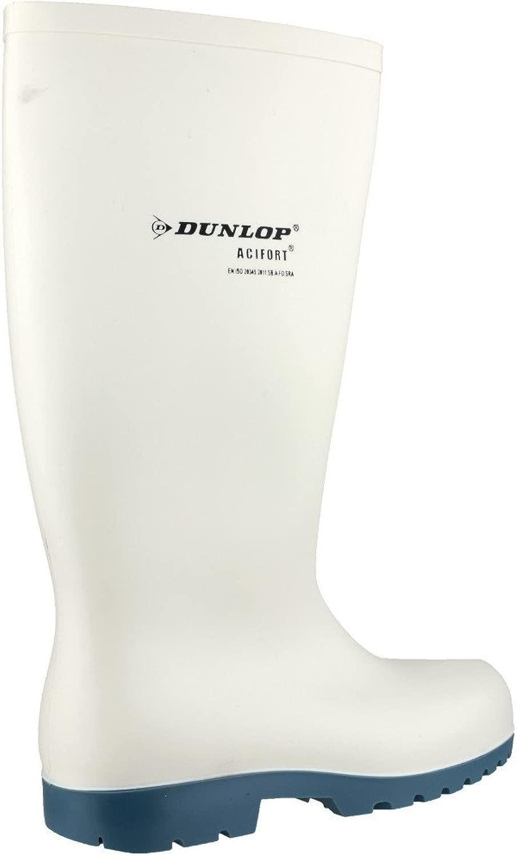 Dunlop Acifort mit Stahlkappe EN345 SB Lebensmittelbereich, Gummistiefel in in Weiß, 44  das billigste