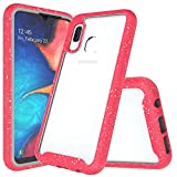 for Samsung Galaxy A10E Case, Clear Full Body Heavy Duty Protective Case with Built-in Screen Protector Shockproof Rugged Cover Designed for Samsung Galaxy A10E 2019 Released (Pink)