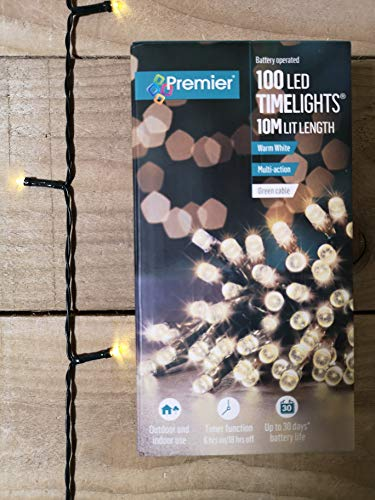 Premier LB112383WW B-O 100 Led Lights, Warm White