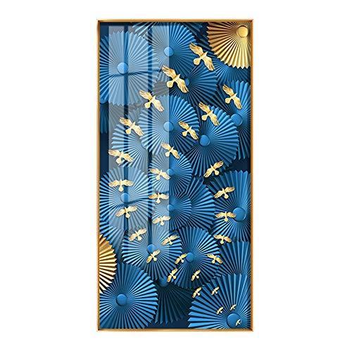 Nwn Chino Concepción artística Entrada Porche Pintura Decorativa Lucky Nine Fish Map...