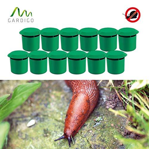 Gardigo Schnecken-Falle 12er Set I Bio Schneckenschutz für den Garten I Umweltfreundliche Schneckenbekämpfung