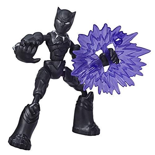 Avengers- Bend and Flex Figura Black Panther 15 Cm (Hasbro E78685X0)