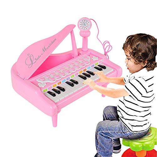 L Teclado de Juguete de Piano eléctrico para niños de 24 Teclas...