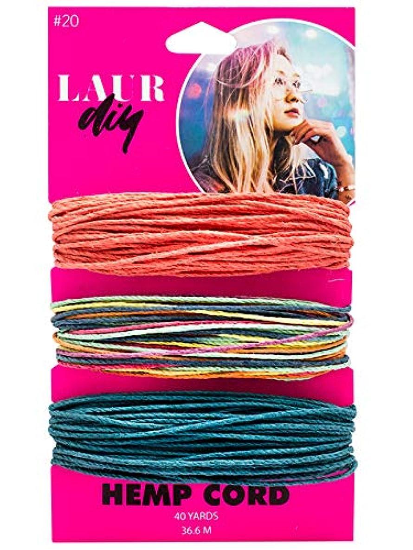 LaurDIY 37600016 Coral/Multi/Blue Cord Hemp, Multicolor txqk8677542034