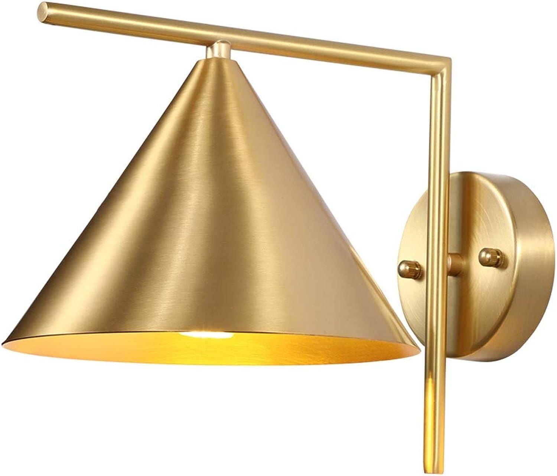 venta de ofertas LIUX Luz Poste Poste Poste Dormitorio de Cobre Moderno Lámpara de Parojo del Dormitorio Sala de Estar Lámpara de cabecera Lámpara de Parojo Escaleras Pasillo Pasillo Moda Sencilla Cobre Puro Iluminación LED  para mayoristas