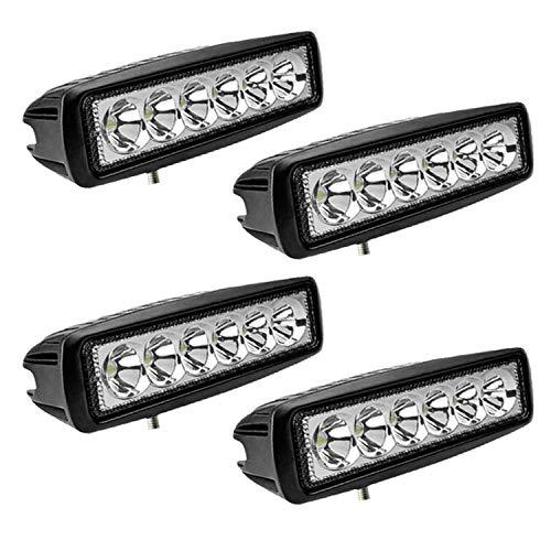 Hengda LED Arbeitsscheinwerfer, 4x 18W Scheinwerfer 12v LED Zusatzscheinwerfer für Traktor, Auto, Offroad, LKW, SUV, LED Strahler IP67 Wasserdicht Rückfahrscheinwerfer