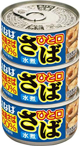 いなば ひと口さば水煮3缶 (115g3)