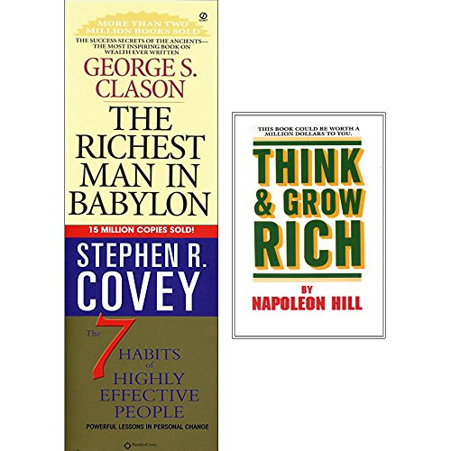 Price comparison product image Richest man in babylon,  7 habits of highly effective people and think and grow rich 3 books collection set