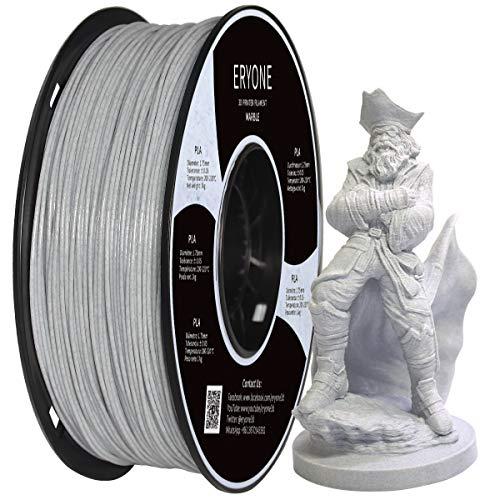 Eryone Marmor PLA Filament 1.75mm, 3D-Druckfilament-PLA für FDM 3D Drucker und 3D Stift, 1 kg 1 Spule