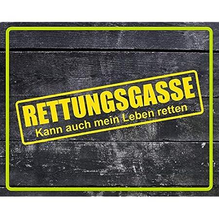 Dinger Design Rettungsgasse Aufkleber Feuerwehr Polizei Drk Sticker Decal Stickerbomb Gelb 60x15cm Auto