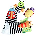 leoyoubei Baby Socks Toys Wrist Rattles and Foot Finders Multicolor 4 pack