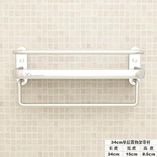 Estantería Ducha sin Taladro- Espacio Aluminio Baño Cocina Baño Baño Baño Baño Colgante De Pared, 34 Cm De Una Sola Capa Con Varilla (Punzón)